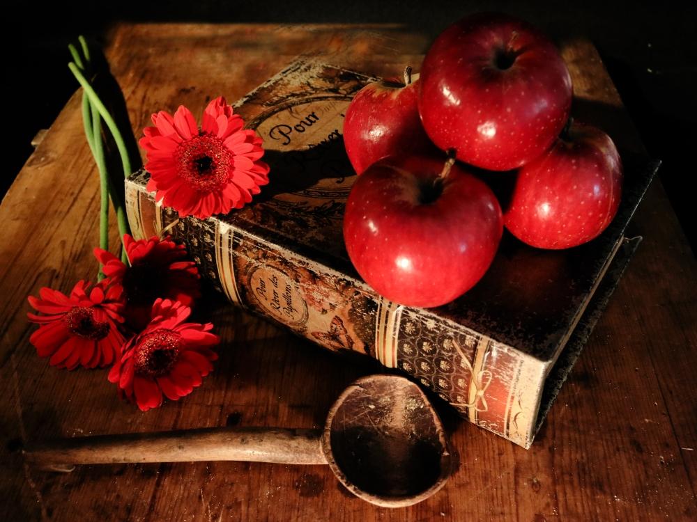 Apfel und gerbera